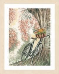 "PN-0171414 Counted cross stitch kit Lanarte ""Bike & Flower basket"""
