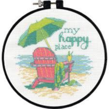 "72-75678 Counted cross stitch kit DIMENSIONS ""My happy place"""