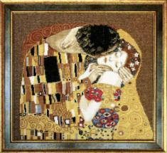 "№411 By G. Klimt ""Kiss (fragment)"""