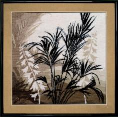 "№425 ""Triptych Palm leaf"""