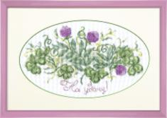 "BT-015 Counted cross stitch kit Crystal Art ""For good luck"""