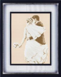 "012L Kits for drawing by pebbles (canvas) ""Wedding"" (Lasko)"