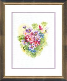 "BT-072 Counted cross stitch kit Crystal Art ""Summer bouquet"""