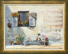 "BT-521 Embellished stitch kit Crystal Art ""Journey along Italy"""