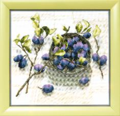 "BT-144 Counted cross stitch kit Crystal Art ""Plum aroma"""