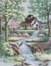 "35027 Counted cross stitch kit DIMENSIONS ""Peaceful Stream"""