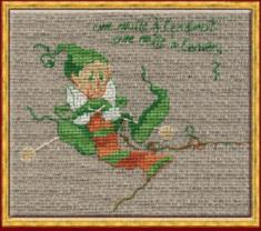 "59-A0030 К (Aida) Counted cross stitch kit NIMUЁ ""Mac 7 Tricote"""