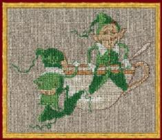 "78-A038G К (Aida) Counted cross stitch kit NIMUЁ ""Mic&Mac Pousse-cafe"""