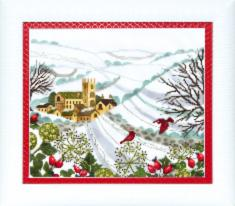 "BT-177 Counted cross stitch kit Crystal Art ""Christmas fairytale"""