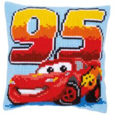 "PN-0014586 Vervaco Cross Stitch Cushion Disney ""Lightning McQueen"""
