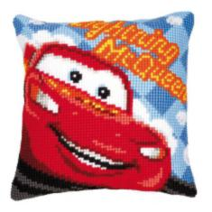 "PN-0014609 Vervaco Cross Stitch Cushion Disney ""Lightning McQueen"""
