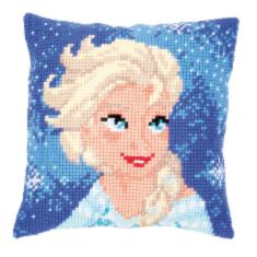 "PN-0165924 Vervaco Cross Stitch Cushion Disney Frozen ""Elsa"""