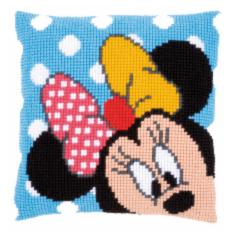 "PN-0167234 Vervaco Cross Stitch Cushion Disney ""Minnie Peek-a-boo"""