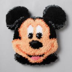 "PN-0014640 Vervaco Latch Hook Shaped Rug Disney ""Mickey Mouse"""
