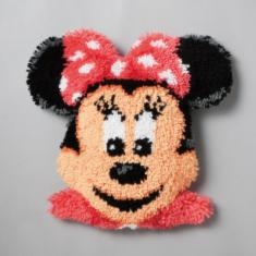 "PN-0014641 Vervaco Latch Hook Shaped Rug Disney ""Minnie Mouse"""