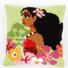 "PN-0168027 Vervaco Cross Stitch Cushion Disney ""Vaiana Moana, Island girl"""