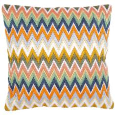 "PN-0147946 Vervaco Long Stitch Cushion ""Zigzag"""