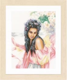 "PN-0157499 Counted cross stitch kit LanArte ""Day-dreaming"""