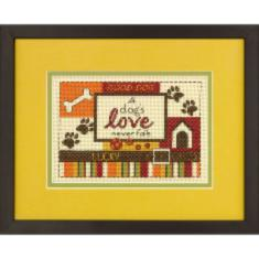 "70-65124 Counted cross stitch kit DIMENSIONS ""A Dog's Love"""