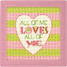 "70-65166 Counted cross stitch kit DIMENSIONS ""All of Me"""