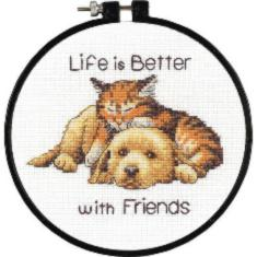 "72-74549 Counted cross stitch kit DIMENSIONS ""Better with Friends"""