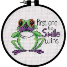 "73519 Counted cross stitch kit DIMENSIONS ""First One to Smile"""