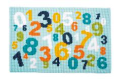 "PN-0150971 Vervaco Cross Stitch Rug ""Numbers"""