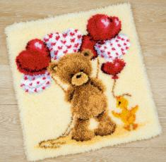 "PN-0145799 Vervaco Latch Hook Rug Popcorn ""Beautiful Balloons"""