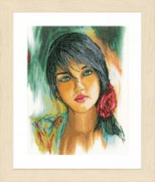 "PN-0164075 Counted cross stitch kit LanArte ""Feelings"""
