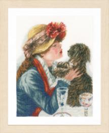 "PN-0168607 Counted cross stitch kit LanArte ""Girl & Dog"""