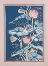 "V-218 Diptych ""Blooming on the water"""