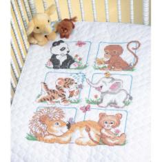 "13083 Counted cross stitch kit (blanket) DIMENSIONS ""Animal Babes"""