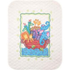 "73125 Counted cross stitch kit (blanket) DIMENSIONS ""Noah's Ark"""