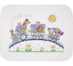 "73427 Counted cross stitch kit (blanket) DIMENSIONS ""Baby's Express"""