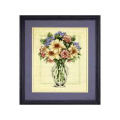 "35228 Counted cross stitch kit DIMENSIONS ""Flowers in Tall Vase"""
