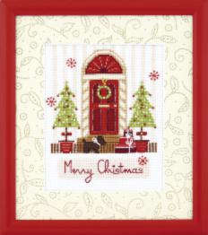 "BT-221 Counted cross stitch kit Crystal Art ""Merry Christmas"""