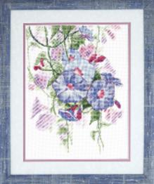 "BT-213 Counted cross stitch kit Crystal Art ""Flower of daybreak"""