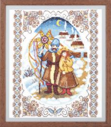 "BT-224 Counted cross stitch kit Crystal Art ""Evening before Christmas"""