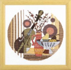 "BT-234 Counted cross stitch kit Crystal Art ""Music in heart"""