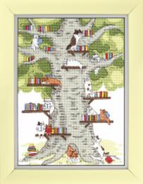 "BT-236 Counted cross stitch kit Crystal Art ""Library in the forest"""