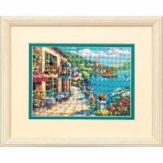 "65093 Counted cross stitch kit DIMENSIONS ""Overlook Cafe"""