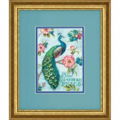 "70-65146 Counted cross stitch kit DIMENSIONS ""Blue Peacock"""