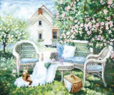 "ВТ-251 Counted cross stitch kit Crystal Art ""Blooming garden"""