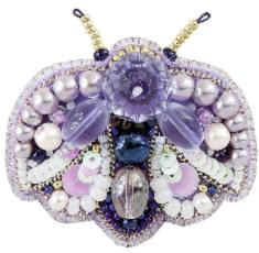 "BP-270 Beadwork kit for creating broоch Crystal Art ""Bug"""