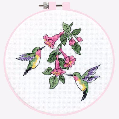 Hummingbirds /& Fuchsia Dimensions Cross Stitch Kit