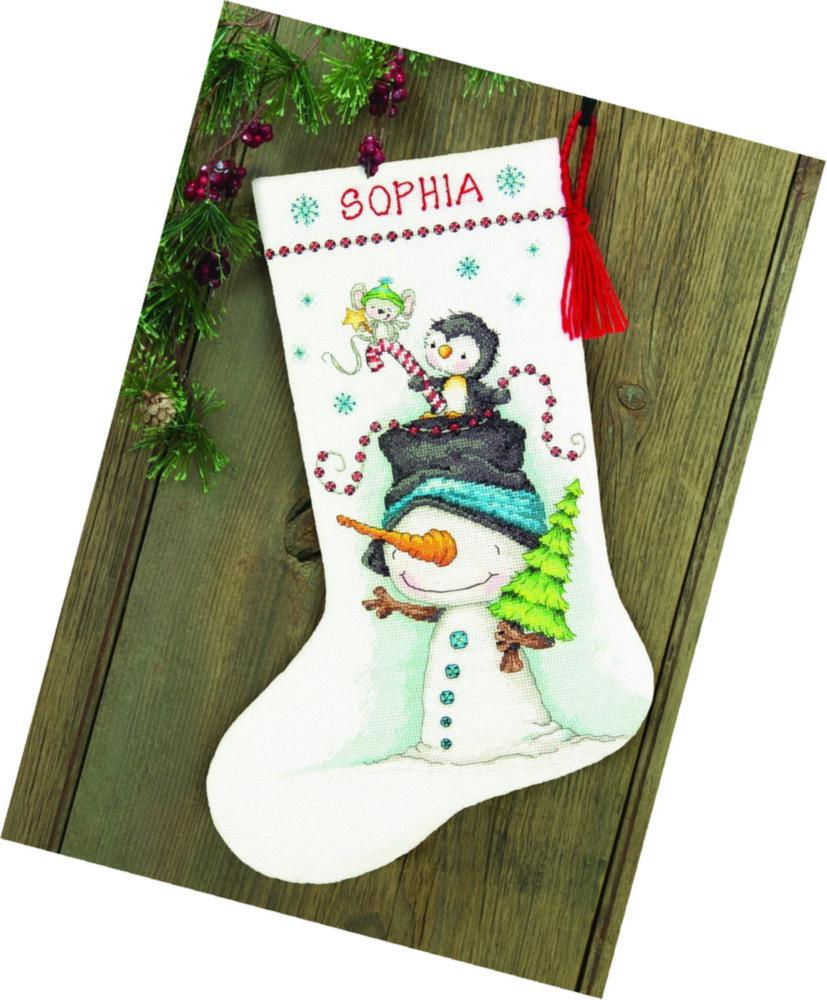 Jolly Trio Stocking in Counted Cross Stitch